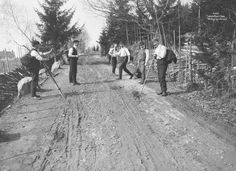 Vintage photos | spending Easter with the lads in 1906 | Norway Group Of Friends, Vintage Photos, Norway, Easter, Outdoor, Outdoors, Old Photos, Easter Activities, Outdoor Games