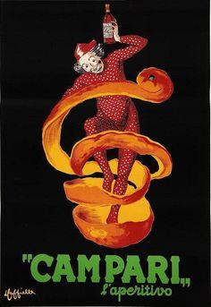 Poster by Leonetto Cappiello, 1950, Bitter Campari (other version). (I)