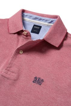 CUSTOM-FIT SHORT SLEEVE PIQUE POLO IN COTTON, Strawberry, small
