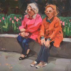 Being Seen with Tulips original fine art by Carol Marine