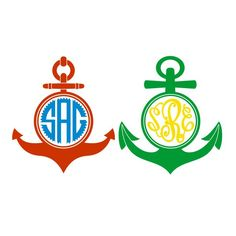 Anchor Monogram Cuttable Frame Cut File. Vector, Clipart, Digital Scrapbooking Download, Available in JPEG, PDF, EPS, DXF and SVG. Works with Cricut, Design Space, Cuts A Lot, Make the Cut!, Inkscape, CorelDraw, Adobe Illustrator, Silhouette Cameo, Brother ScanNCut and other software.
