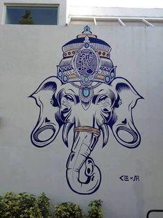 Resultado de imagen para ganesha graffiti
