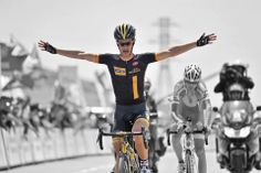 There can be only one! Linus Gerdemann!!! #TourDAz #bicycle #cycling #bike #keepcycling #cyclist #finish #Synergy #Baku #Azerbaijan