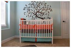 """wall color: Benjamin Moore """"spring sky"""""""