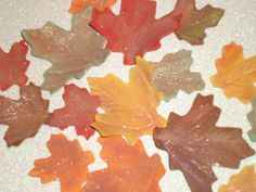Gum Paste Maple Leaf Assortment by GumpasteGarden on Etsy #pcfteam