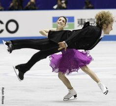 Meryl Davis and Charlie White...  I wish i could do that!!