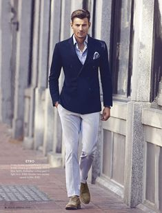 Love this #blue loves #white fashion look for the gents from #HoltRenfrew !