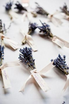 Try adding lavender bundles to wedding place cards for an elegant flair.