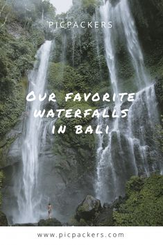 These are our personal favr waterfalls in Bali. Add them to your list 🌴 Cascade Falls, Rice Terraces, Lush Green, Ubud, Great View, Waterfalls, The Locals, In The Heights, Bali