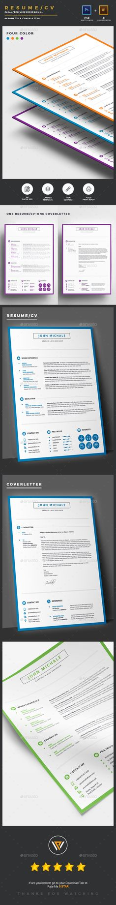 Modern infographic resume cv template psd ai illustrator clean resumecv psd template inspiration vector resume resume booklet yelopaper Image collections