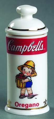Oregano - Spice Jar Set-Ind Jar-Motif 1 in the Campbell Soup Kids Spice Jar pattern by Danbury Mint