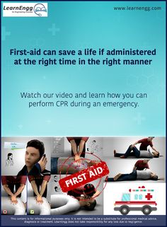 First-aid can save a life if administered at the right time in the right manner. Watch our video and learn how you can perform CPR during an emergency: [Click on the image] #learnengg #cpr #firstaid