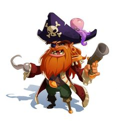 The Walking Pet - Fantasy Characters by Paul Mafayon on ArtStation. Game Character Design, 3d Character, Character Concept, Concept Art, Cartoon Styles, Cartoon Art, Cartoon Characters, Pirate Games, Pirate Theme