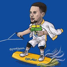 Stephen Curry splashes when he is one of the splash brothers! Basketball Park, Chicago Bulls Basketball, Basketball Is Life, Basketball Posters, Basketball Quotes, Nba Stephen Curry, Warriors Stephen Curry, Wardell Stephen Curry, Splash Brothers