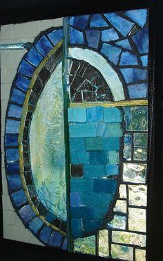Eggscape by Debbie McLaughlin  ~  Maplestone Gallery  ~  Contemporary Mosaic Art