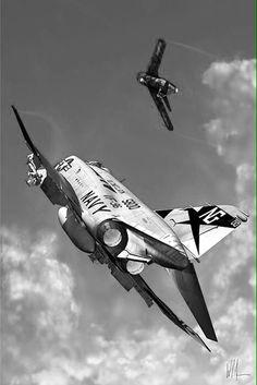 Navy F4 Phantom II on a Mig