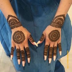 New bridal mehndi designs brides beautiful henna art ideas Circle Mehndi Designs, Round Mehndi Design, Pretty Henna Designs, Modern Henna Designs, Finger Henna Designs, Mehndi Designs Book, Mehndi Designs For Girls, Mehndi Designs For Beginners, Mehndi Design Photos