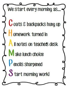 Great idea for making Classroom management posters using acrostics