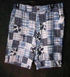RARE Rue 21 New Women's Bermuda 100% Cotton Shorts Sz 32 Blue White   #Rue21 #BermudaWalking