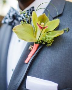 Wedding Boutonnieres - orchid