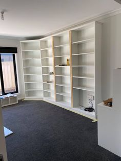 How a Little Idea Became a Little Library Ikea Billy Bookcase Hack, Wall Bookshelves, Wall Shelves, Billy Hack, Little Library, 7 Months, Cabinet Makers, Strip Lighting, Book Collection