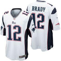 NFL New England Patriots Jordan Richards Mens Game Road White Jersey 836497d50a9