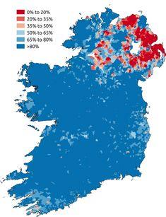Catholicism in Ireland, 2011 by SkateTier #map #religion #ireland #eire