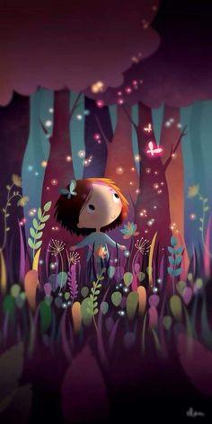 Little Girl Illustrations, Cute Girl Illustration, Illustration Mignonne, Children's Book Illustration, Illustrations And Posters, Art Anime Fille, Anime Art Girl, Art Fantaisiste, Art Mignon
