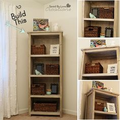 How to build a reclaimed barnwood Bookcase @savedbyloves