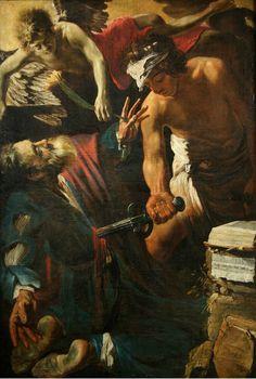 Claude Vignon (Tours, 1593 – Paris, 1670), Martyrdom of Saint Matthew, 1617. Oil on canvas, 142 x 96 cm. Arras, Musée des Beaux Arts.