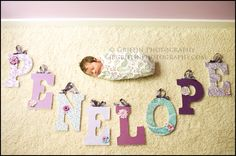 Infant photography. Photo idea. Baby girl. Baby photo with name