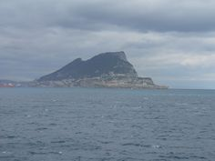 Gibraltar seen from the Spanish coast