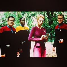 "Which #StarTrek #voyager character would you want to meet most? My daughter met Jeri Ryan at Goddard Space Flight Center when she was 8 years old, on ""Take Your Daughter to Work Day"", 15 years ago! She was very sweet to my daughter!"