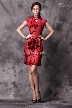 Wholesale Everyday Dress Chinese Cheongsam vintage silk embroidery sexy cheongsam wedding cloth slim for lady 7 size, Free shipping, $114.24-122.08/Piece   DHgate