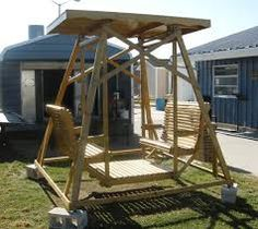 Wooden Glider Swing: Picture Yourself On This Sturdy Wooden Glider Swing  Relaxing Outdoors It