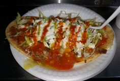 This is an Awesome Street Dinner in the form of a Huarache de Suadero from the Tacos La Doña Taco Truck @tacosladona on the South East Corner of Rosemead Blvd. & Duarte Rd. in The East San Gabriel (Unincorporated Los Angeles County Area) Area (The San Gabriel Valley of Los Angeles County) of The City of San Gabriel, California.