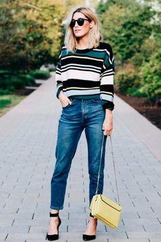 Geralmente, uma tendência (re)surge quando muitos estilistas batem na mesma tecla. Isto aconteceu com as listras coloridas e, há algum tempo, elas aparecem nos looks de street style.