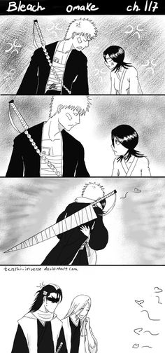 At first, I was thinking to start new doujinshi for Ichiruki with continuation in the next pages, but in the end I made it as another stand-alone page. I miss Rukia, and I have no idea for the perf...