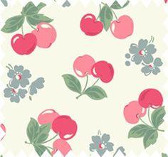 Kath Kidston :: Cotton duck fabric in a cherry print