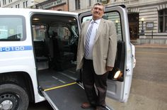 Dignity Taxi's new fleet of wheelchair accessible MV-1 taxis are turning heads on Winnipeg streets.