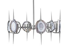 Eclipse Agate Chandelier, Silver
