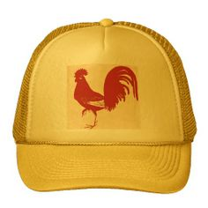94cc3ad413d ROOSTER GALLO BASEBALL CAP (RED AND BLACK)