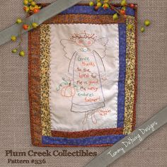Angel Scripture Embroidery Pattern #336