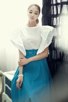 Blouse ivory blouse style fashion ootd 딘트 dint