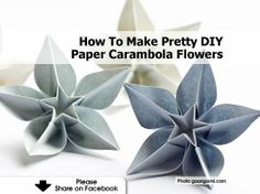 How To Make Pretty DIY Paper Carambola Flowers
