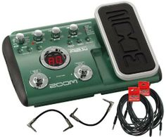 """Zoom A2.1U Multi-Effects Acoustic Pedal with USB w/(2) 6"""" patch cables (2) 18.6' cables by Zoom. $179.99"""