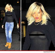 """Rhi-Rhi is just out of control !!! What do u think about this """"Dinner in NYC"""" look ??? !!!"""