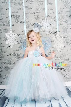 snowflake princess christmas tutu dress and crown