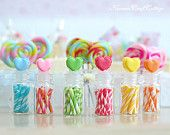 Candy, Canes, Lollipop, Love, Glass, Bottle, Candy cane, Fake, Doll, Food, Kawaii, Cute, Mini, Blythe, Little, Tiny, 1 6, 1:12, Gift, Sweets