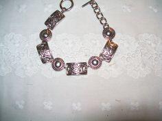 Premier Designs silvertone bracelet, vintage bracelet, fashion bracelet, PD bracelet by vintagebyrudi on Etsy